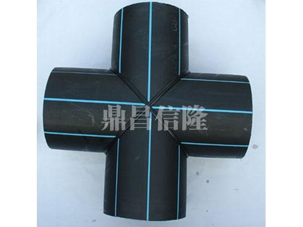 黑龙江钢丝网骨架塑料复合管厂家PE焊制管件