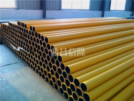 钢丝网骨架聚乙烯复合管--黄色